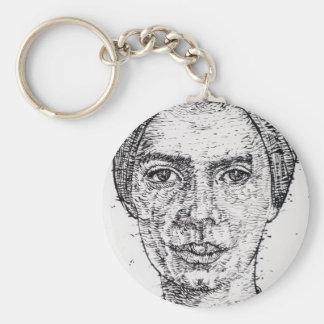 emily dickinson portrait keychain