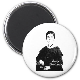 Emily Dickinson Portrait on Apparel, Tote Bags 2 Inch Round Magnet