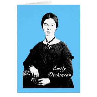 Emily Dickinson Portrait on Apparel, Tote Bags Greeting Card