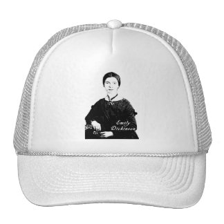 Emily Dickinson Portrait on Apparel, Tote Bags Trucker Hat