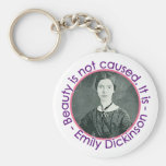 Emily Dickinson Portrait With Quote Key Chains