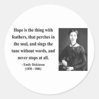 Emily Dickinson Quote 1b Classic Round Sticker