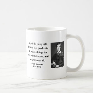 Emily Dickinson Quote 1b Classic White Coffee Mug