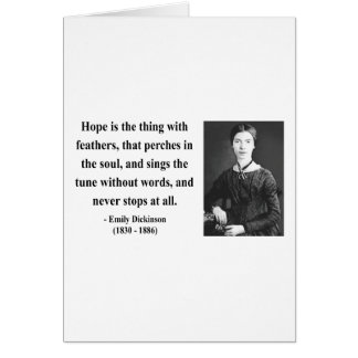 Emily Dickinson Quote 1b Greeting Card