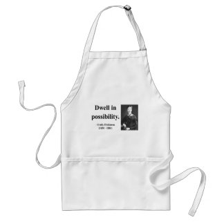 Emily Dickinson Quote 2b Adult Apron