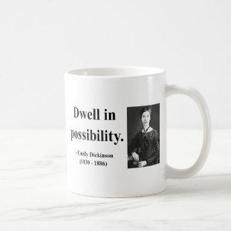 Emily Dickinson Quote 2b Classic White Coffee Mug