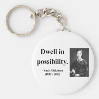 Emily Dickinson Quote 2b Keychain