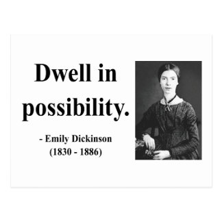 Emily Dickinson Quote 2b Post Card