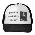 Emily Dickinson Quote 2b Trucker Hat