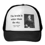 Emily Dickinson Quote 3b Trucker Hat