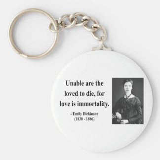 Emily Dickinson Quote 8b Keychain
