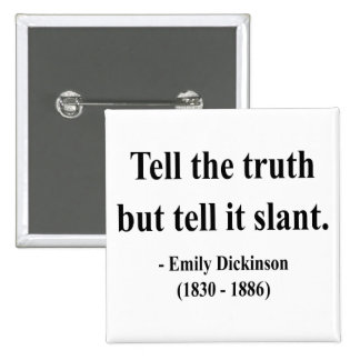 Emily Dickinson Quote 9a Buttons