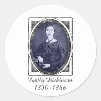 Emily Dickinson Round Stickers