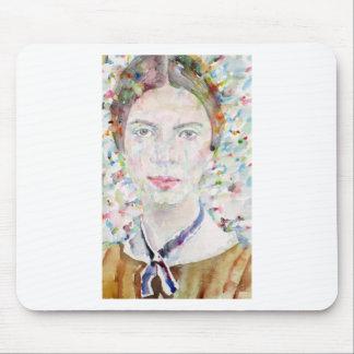 emily dickinson - watercolor portrait mouse pad
