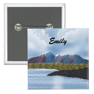 Emily_Digital Painting Mountains Magnet Pinback Buttons