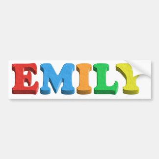 Emily Dough/Foam Letters Car Bumper Sticker