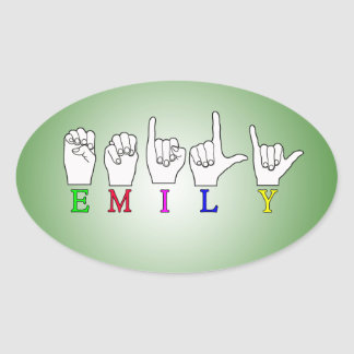 EMILY FINGERSPELLED NAME ASL STICKERS