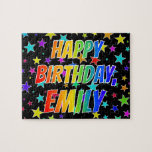 "[ Thumbnail: ""Emily"" First Name, Fun ""Happy Birthday"" Jigsaw Puzzle ]"