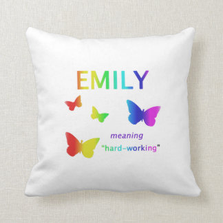 Emily Gifts Name Meaning Throw Pillow