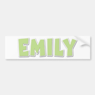 Emily Green Popout Car Bumper Sticker