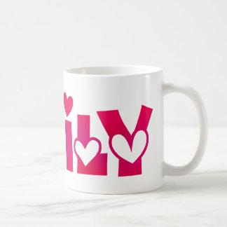 Emily in Hearts Coffee Mug