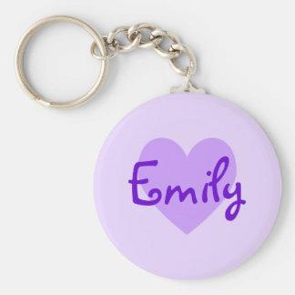 Emily in Purple Basic Round Button Keychain