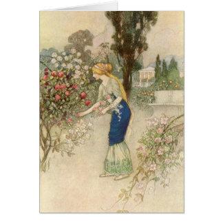 Emily in the Garden - Card