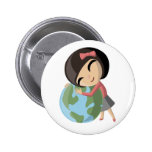 Emily Loves the Earth Pin