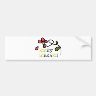Emily Mitchell Flower Logo Car Bumper Sticker