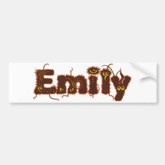 Emily Monsters Car Bumper Sticker