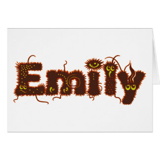 Emily Monsters Greeting Card