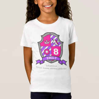 Emily name meaning 8th birthday princess knight T-Shirt