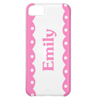 Emily Name Pink Lace iPhone 5C Cases
