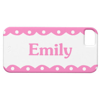 Emily Name Pink Lace iPhone 5 Cases