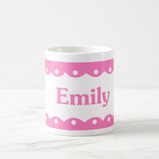 Emily Name Pink Lace Coffee Mug