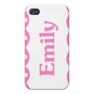 Emily Name Pink Lace iPhone 4 Covers