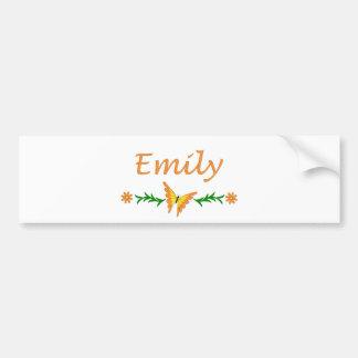 Emily (Orange Butterfly) Car Bumper Sticker