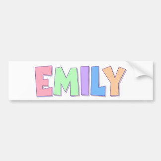 Emily Pastel Rainbow Bumper Sticker