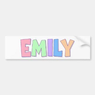 Emily Pastel Rainbow Car Bumper Sticker