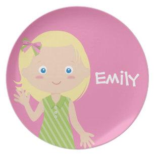emily | personalised melamine plate for girls  sc 1 st  Zazzle & Emily Plates | Zazzle