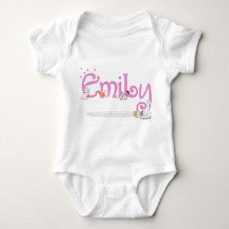 EMILY / personalised name illustration Baby Bodysuit
