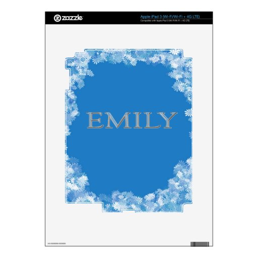 Emily Personalized Name iPad 3 Decal