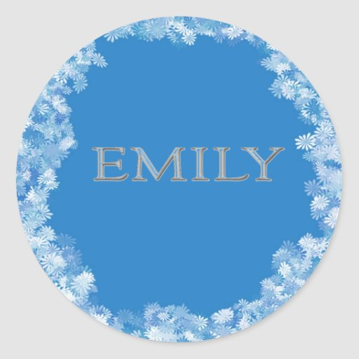 Emily Personalized Name Sticker