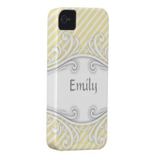 Emily personalizó el amarillo conocido del caso de iPhone 4 Case-Mate cárcasa