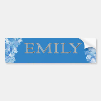 Emily personalizó nombre pegatina para auto