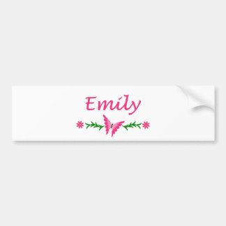 Emily (Pink Butterfly) Bumper Sticker