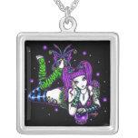 """""""Emily"""" Rainbow Crystal Ball Fairy Necklace"""