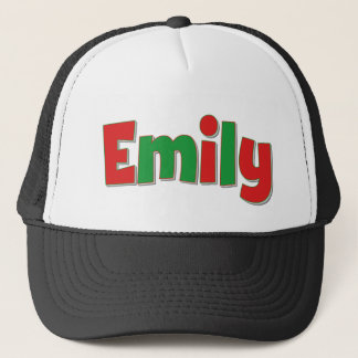 Emily Red and Green Trucker Hat