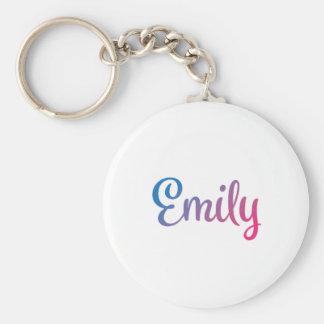 Emily Stylish Cursive Keychain