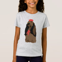Emily The Artist Dachshund Dog for Dog Lovers T-Shirt